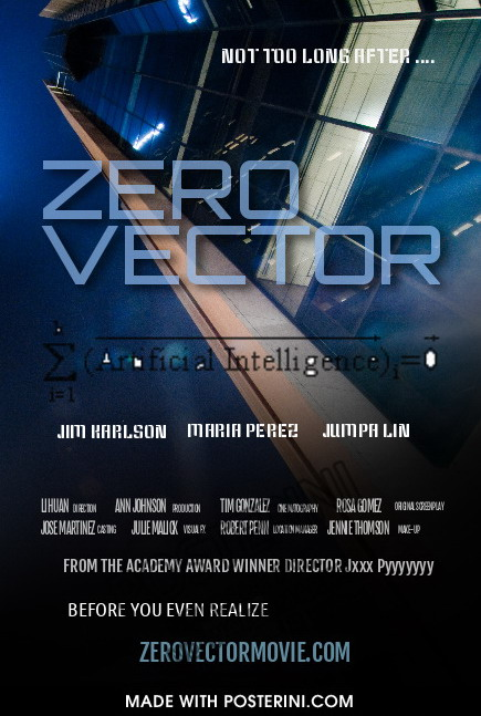 Zero Vector Movie Poster Demo 01